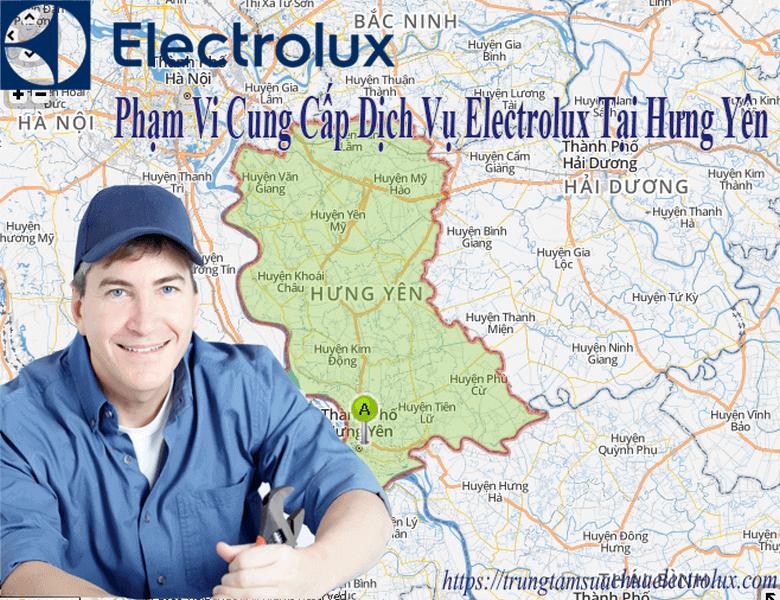 Phạm vi cung cấp dịch vụ electrolux trên toàn bộ địa bàn tỉnh Hưng yên