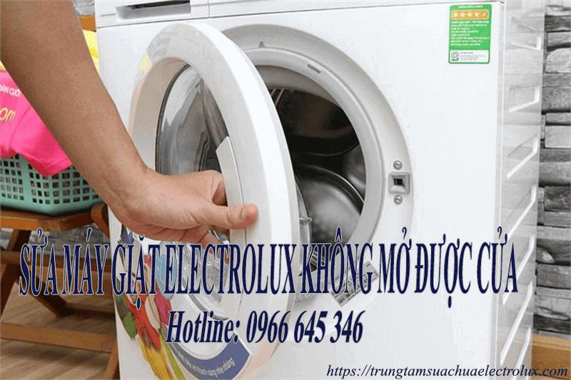 Sửa máy giặt electrolux không mở được cửa, thay thế tay nắm cửa giá rẻ