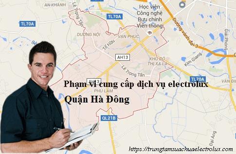 Phạm vi cung cấp dịch vụ electrolux trên địa bàn