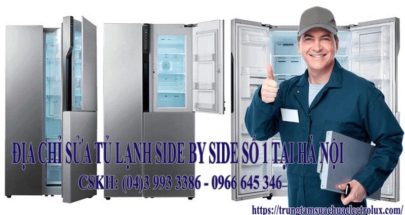 sửa tủ lạnh side by side LG, samsung, sharp, electrolux, tosiba