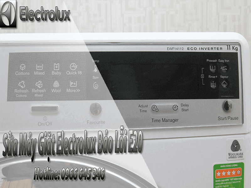 Sửa máy giặt electrolux báo lỗi E20