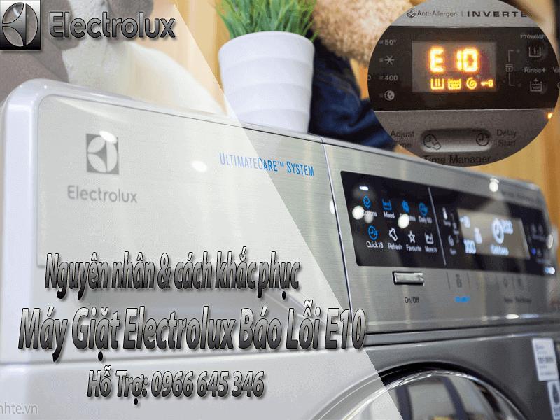 Sửa máy giặt electrolux báo lỗi E10