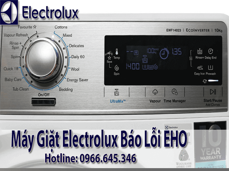 Máy giặt electrolux báo lỗi EHO, EH1