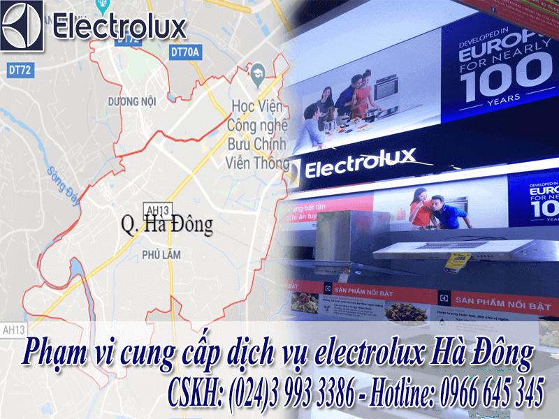 Phạm vi bảo hành electrolux tại Hà Đông