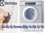 Máy sấy electrolux không vào điện