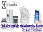 Cách đăng ký bảo hành electrolux