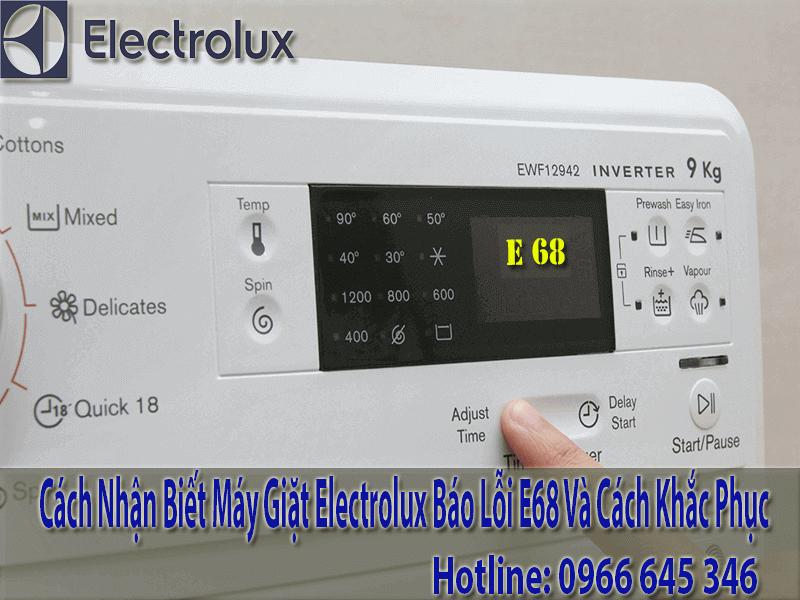 Máy giặt electrolux báo lỗi E68