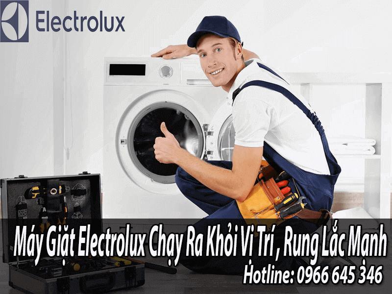 máy giặt Electrolux chạy khỏi vị trí rung lắc mạnh