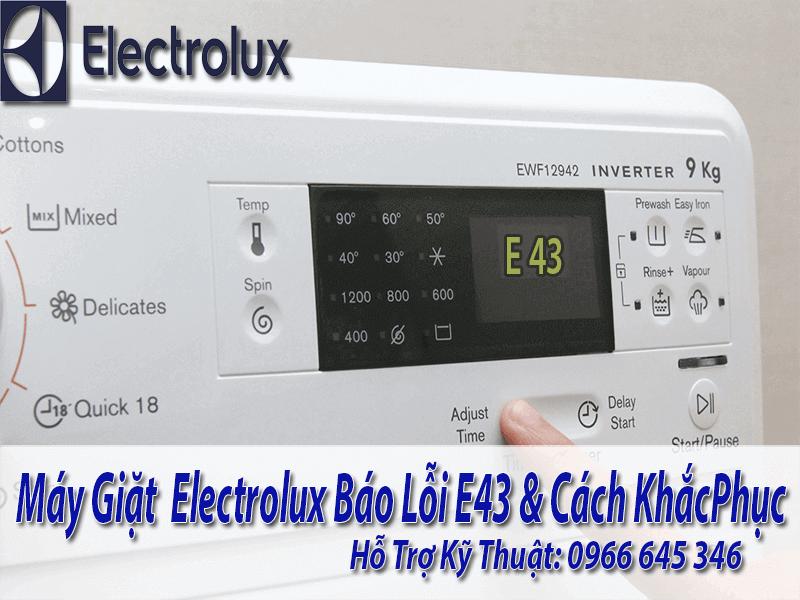 sửa máy giặt electrolux báo lỗi E43