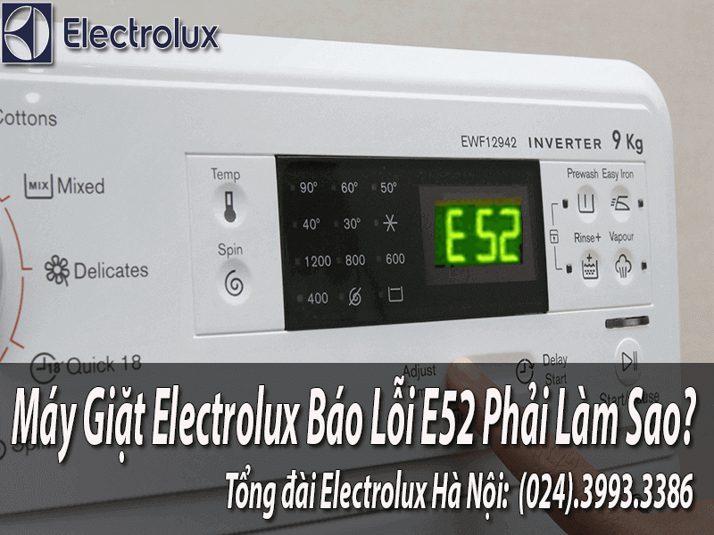 sửa máy giặt electrolux báo lỗi E52