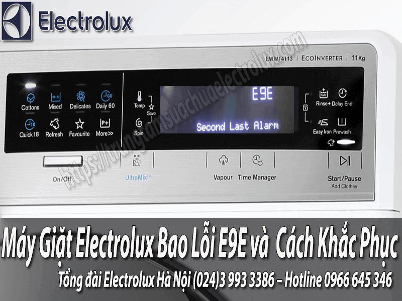 lỗi E9E trên máy giặt electrolux