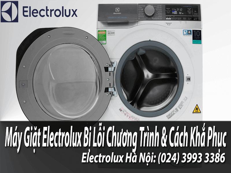 Nguyên nhân máy giặt electrolux bị lỗi chương trình