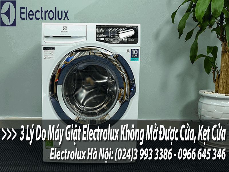 3 lí do máy giặt electrolux không mờ được cửa