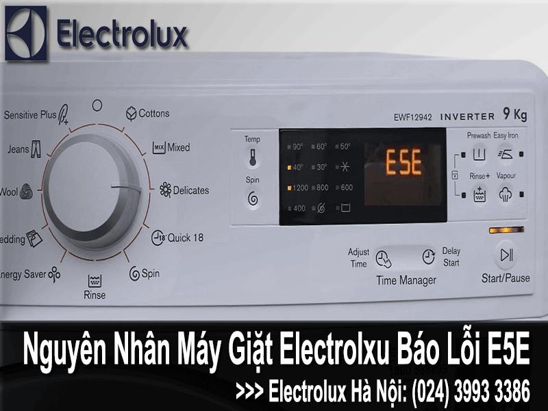 nguyên nhân Máy giặt electrolux báo lỗi E5E