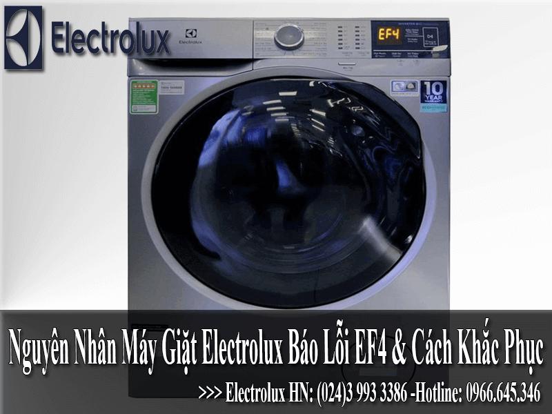 Máy giặt electrolux báo lỗi EF4