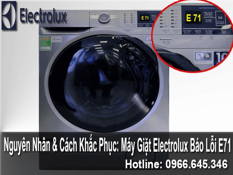 Sửa máy giặt electrolux báo lỗi E71