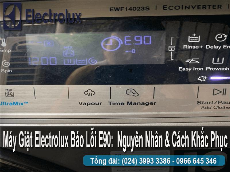 lỗi e90 trên máy giặt electrolux