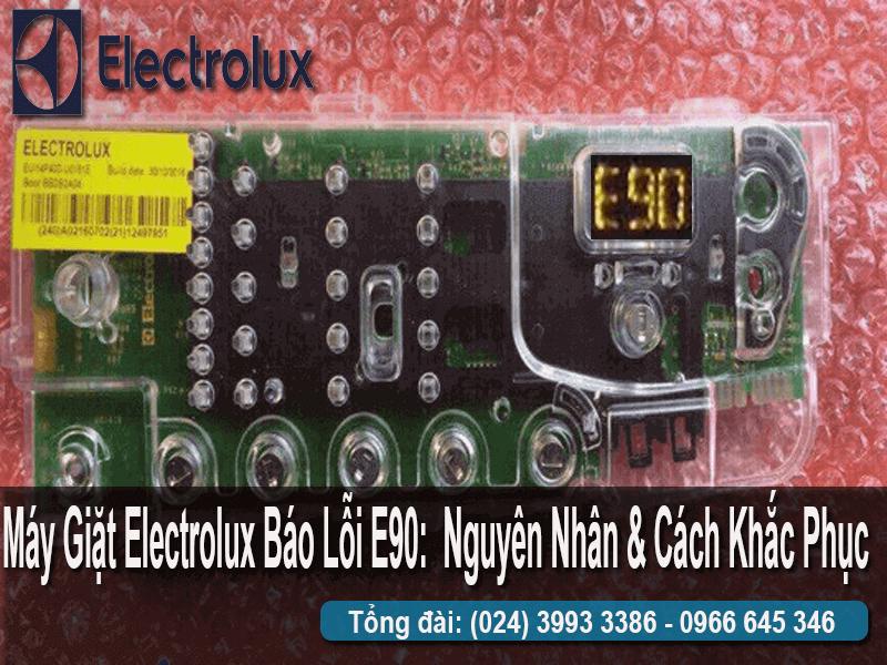 sửa máy giặt Electrolux báo lỗi E90